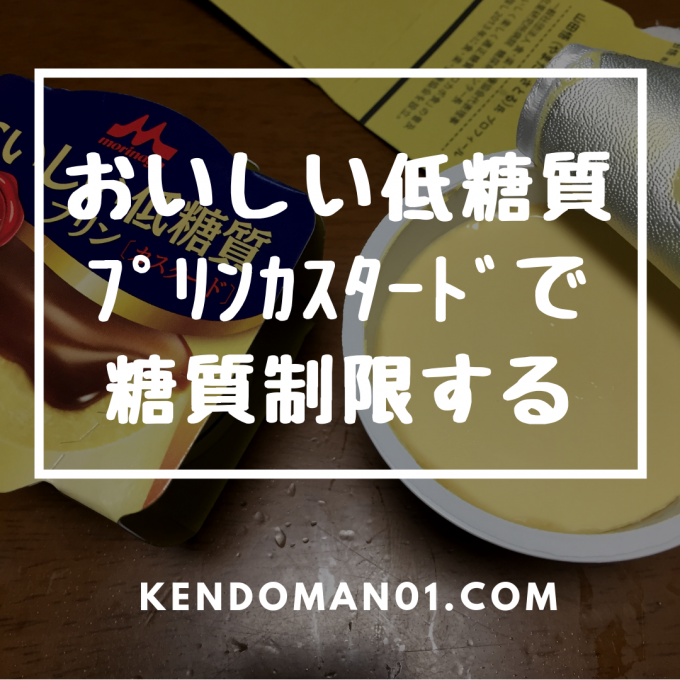 【森永プリン】おいしい低糖質プリンカスタードを食べてみた!